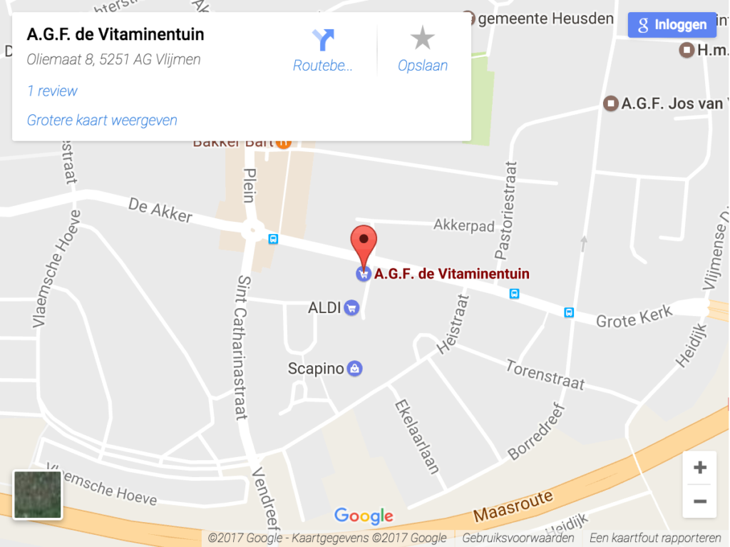 Contact de Vitaminentuin